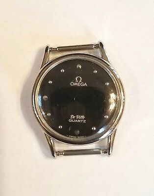 Vintage Omega Deville Quartz Case & Face Black