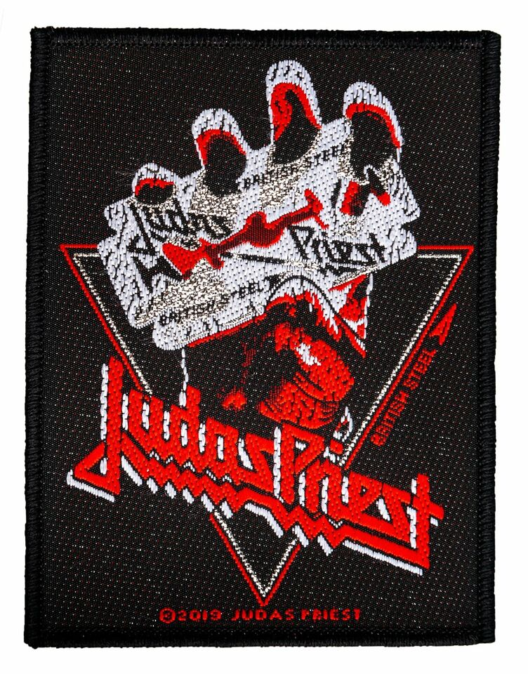Priest Judas British Steel Vintage Aufnäher Judas Patch Gewebt in Gescher