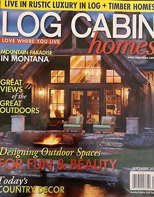 LOG CABIN HOMES MAGAZINE   SEPTEMBER 2014** for sale  Shipping to Canada