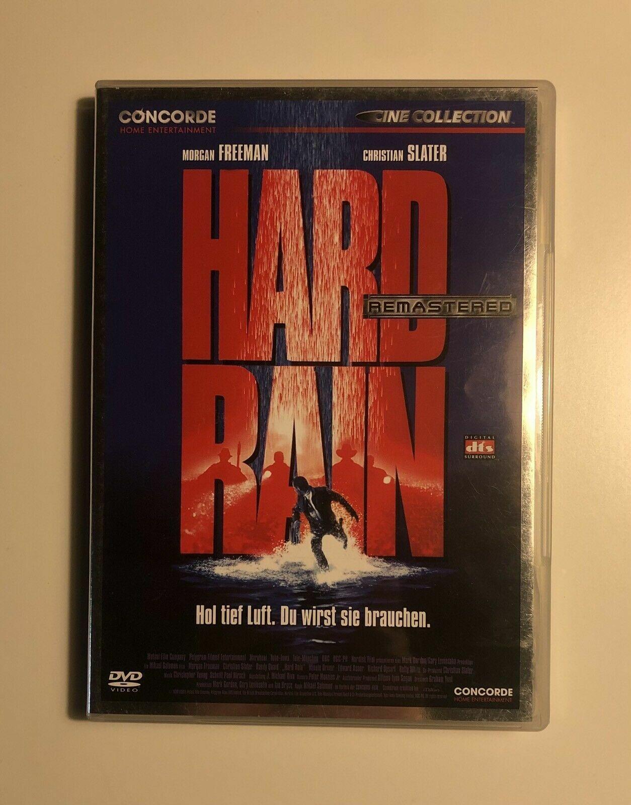 HARD RAIN DVD Christian Slater Morgan Freeman Top Film