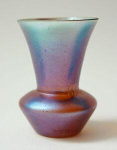 Irisierende Myra Glas-Vase orange blau Karl Wiedmann für WMF Geislingen 1930/40