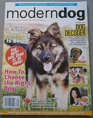 VG! MODERN DOG Magazine w/ QUINN on Cover ~ SPRING 2017 ~ Dogs / Pets / English