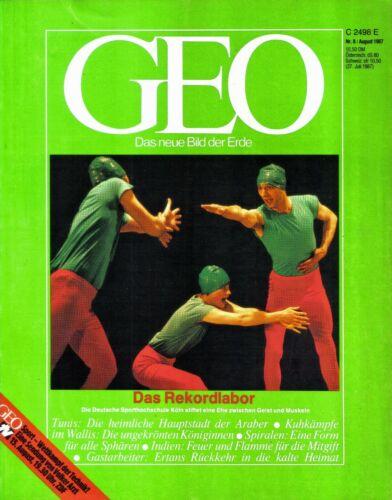 GEO - Das neue Bild der Erde - Heft Nr. 8 August 1987 - gebraucht - Magazin