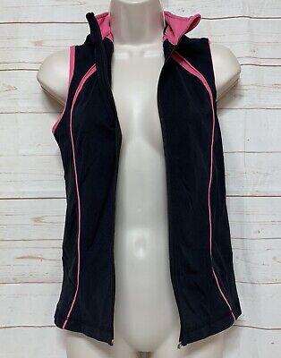 LULULEMON Women's Vest Size 6 Black/Pink Lightweight (missing Zipper)