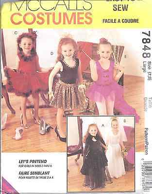 MCCALLS Sewing Pattern 7848 Little Girl Dress-Up Costumes FF Let's Pretend UNCUT - Little Girl Dress Up Costumes