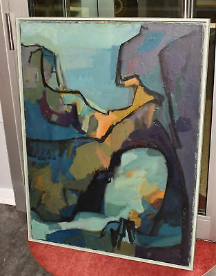 Original Lilli Palmer Ölgemälde Bild kubistischer Akt Gemälde