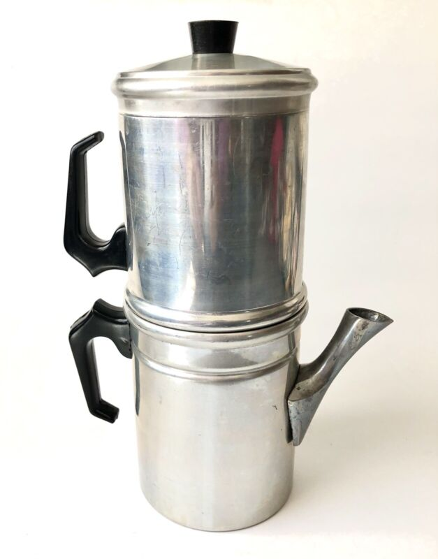 Vintage Aluminum Flip Drip Espresso Coffee Maker Italy