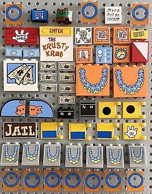 Lego Spongebob Squarepants Building Parts 50+ Pc Lot Bikini Bottom Krusty Krab