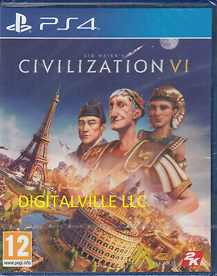 Sid Meier's Civilization VI Ps4 PlayStation 4 Brand New Factory Sealed