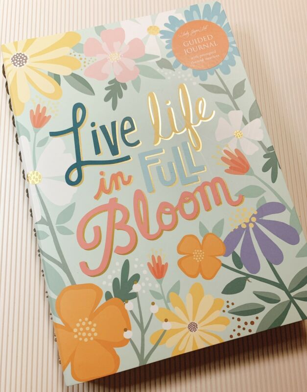 LIVE LIFE IN FULL BLOOM Guided Journal Happiness Gratitude Goals Lady Jayne LTD