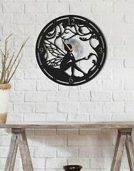Contemporary Butterfly Metal Wall Art Clock, Metal Butterfly Wall Clock Large