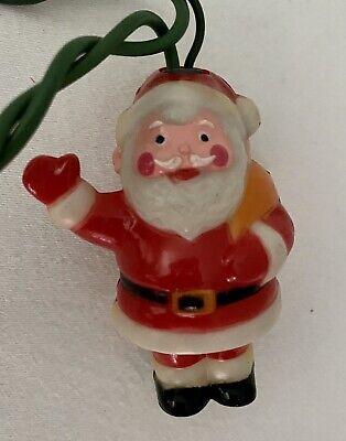 Vintage Santa Claus Blow Mold Christmas Tree String of 12 Lights