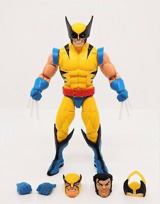 Marvel Legends Tiger Stripe Costume Wolverine w/ Alternate Heads & Hands New!