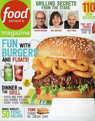Food Network Magazine   2014   June   Burgers   Floats  Grill  110 Recipes