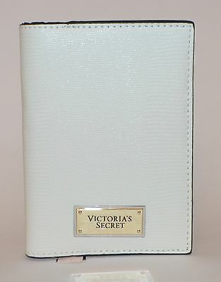 Victorias Secret White Snake Skin Passport Cover Case Travel Wallet Credit Card