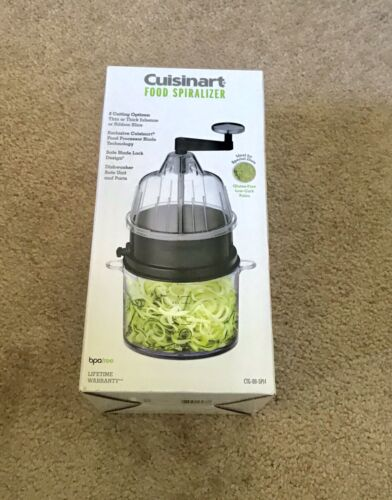 Cuisinart Food Spiralizer With 4 Cup Collection Bowl With Li