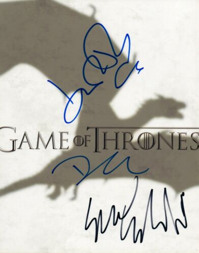 Game of Thrones Signed 8x10 Photo by 3 John Bradley Dean-Charles Chapman +1 VD