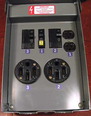 Square-d 100a Servicepak Power Outlets Panel