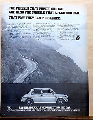 1970 magazine ad for Austin America - The Perfect Second Car