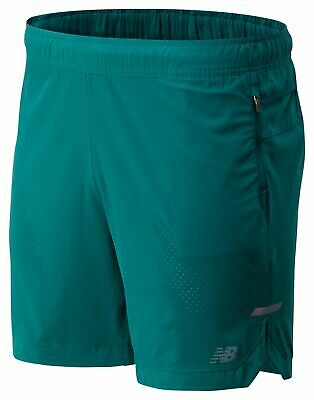 New Balance Men's Q Speed Run Crew Short Green