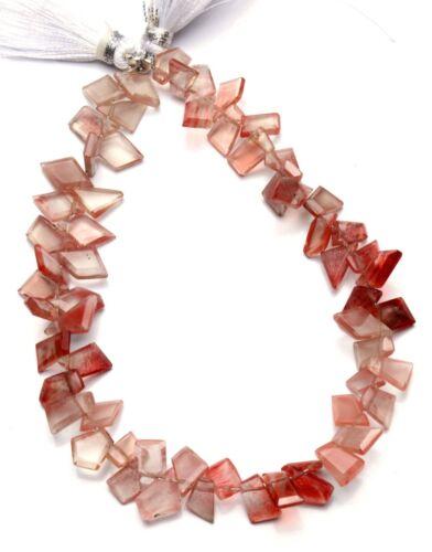 """Natural Gem Andesine Labradorite Faceted Slice Shape Beads 8.5"""" Strand 55Cts."""
