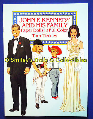 John F Kennedy & His Family 1990 Full Color Jfk Paper Dolls Tom Tierney_uncut