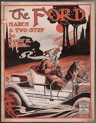 The Ford 1908 Large Format Sheet Music