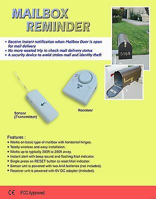 Mail Reminder Notification Alert - motion detector sensor mailbox surveillance