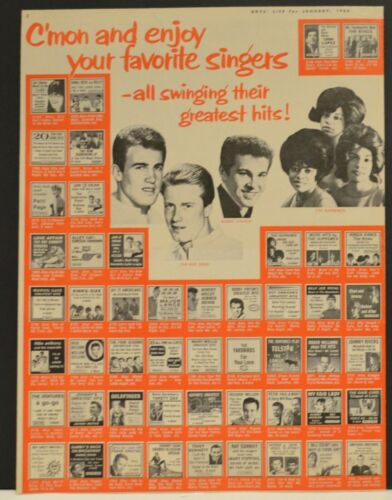 1966 Columbia Record Club Print Ad Supremes Bobby Vinton Jan and Dean