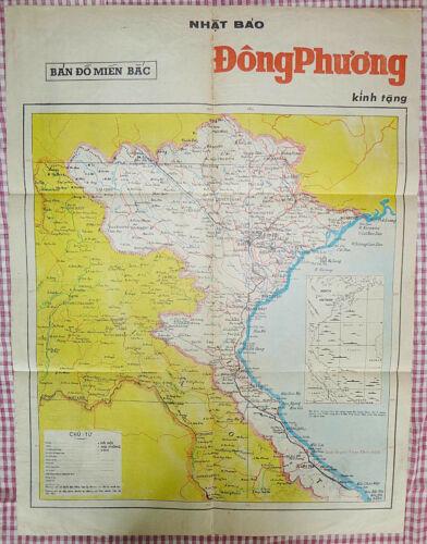 NORTH VIETNAM - LAOS - 1970 - WAR MAP - Hanoi - Dien Bien Phu - GULF TONKIN, DMZ