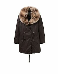Joules Swanson Coat in Finch, brown dry wax jacket, size 8, new with tags