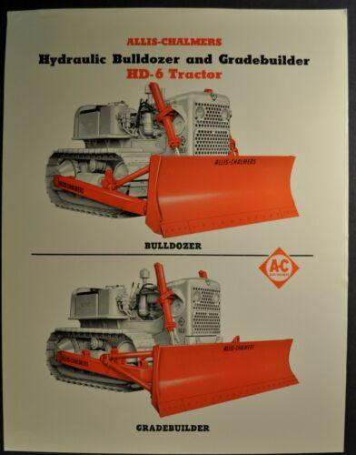 1957 Allis-Chalmers HD-6 Bulldozer Brochure Sheet Crawler Tractor Original 57