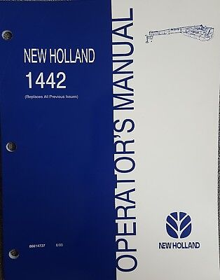 New Holland 1442 Discbine Disc Mower-conditioner Operators Manual