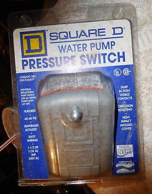Square D Fsg2j24cp Water Pump Pressure Switch 1pkg 40-60 Psi 1.5hp115v 2hp2