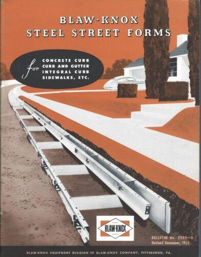 Equipment Brochure - Blaw-Knox - Steel Street Concrete Curb Form - 1953 (E5276)