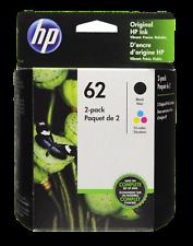 HP #62 Combo Ink Cartridges 62 Black & Color GENUINE
