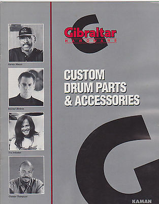 VINTAGE MUSICAL INSTRUMENT CATALOG #10472 - 1992 GIBRALTAR DRUM ACCESSORIES