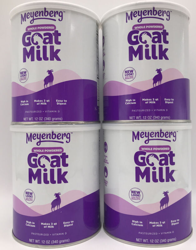 4 Pack Meyenberg Whole Powdered Goat Milk 12 Oz Gluten Free Vitamin D Exp 04/24