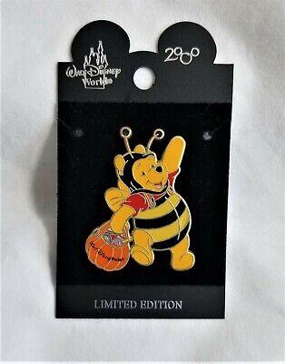 Disney WDW Halloween Pooh in Honey Bee Costume with Pumpkin Bucket LE 3500, NOC