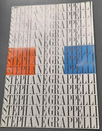Stephane Grappelli French Jazz Violinist 1975 UK official Tour brochure