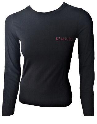 Coupon Moda Donna eBay.it T-shirt Maglia Maniche Lunghe Denny Rose Girocollo Donna Logo Woman Crew Neck Lo