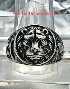 New! Silver coloured lion king of the jungle ring Size: 11