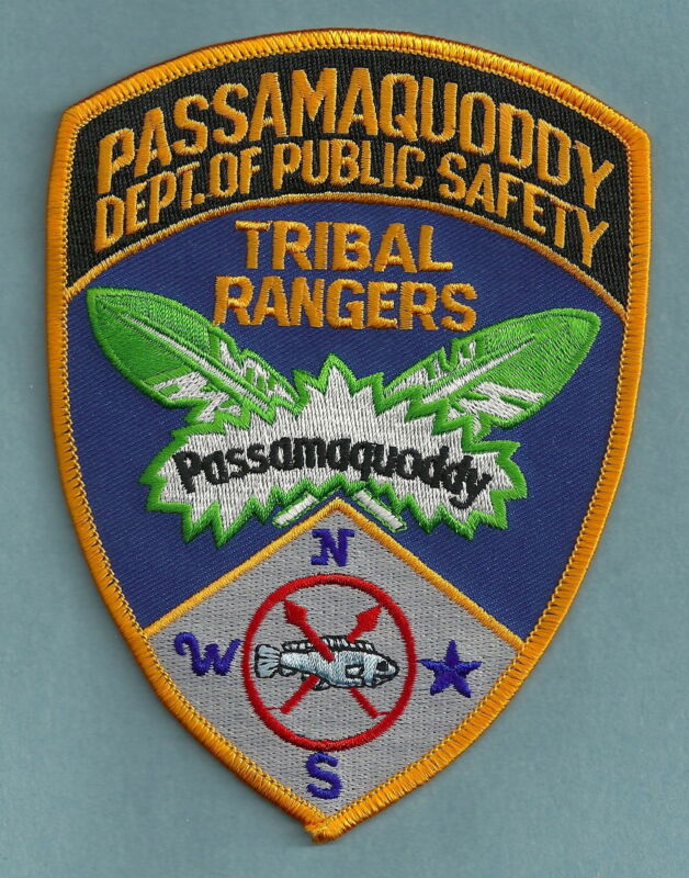 PASSAMAQUODDY MAINE PUBLIC SAFETY TRIBAL RANGERS SHOULDER PATCH