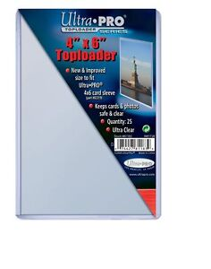 25 Ultra Pro 4 x 6 Toploaders Postcard Photo Holders Storage Protection