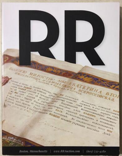 RR AUCTION CATALOG ENTERTAINMENT ART SPACE POP CULTURE HISTORICAL SO MUCH MORE