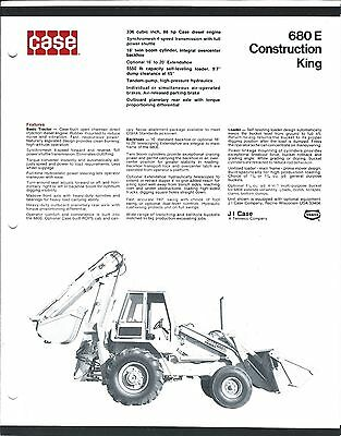 Equipment Brochure - Case - 680e - Construction King - C1974 E3403
