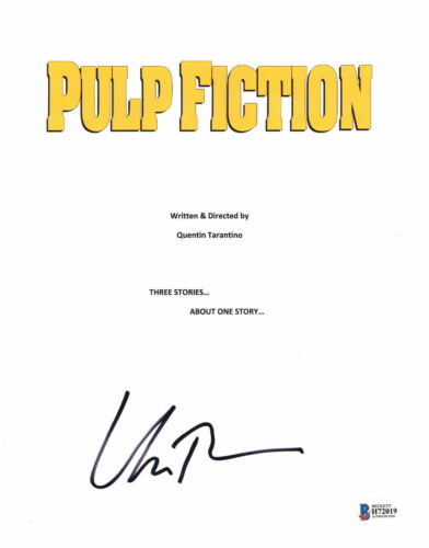 UMA THURMAN SIGNED AUTO PULP FICTION FULL SCRIPT BECKETT BAS COA 2
