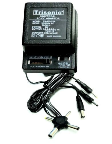 Universal AC to DC Power Adapter - Output 7 Way Adjustable DC Voltage 500mA