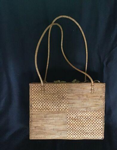 Beautiful Bali handwoven ata vine/rattan handbag/purse