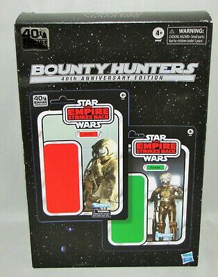 "Star Wars ESB Black Series 40th Anniversary 6"" Bounty Hunters 4-LOM & ZUCKUSS"